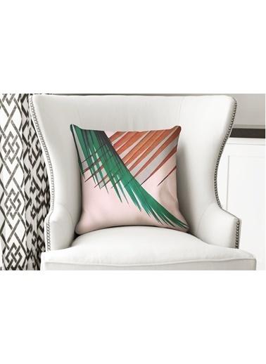 Lyn Home & Decor Yastık Kılıfı Turuncu Yeşil Yaprak Renkli